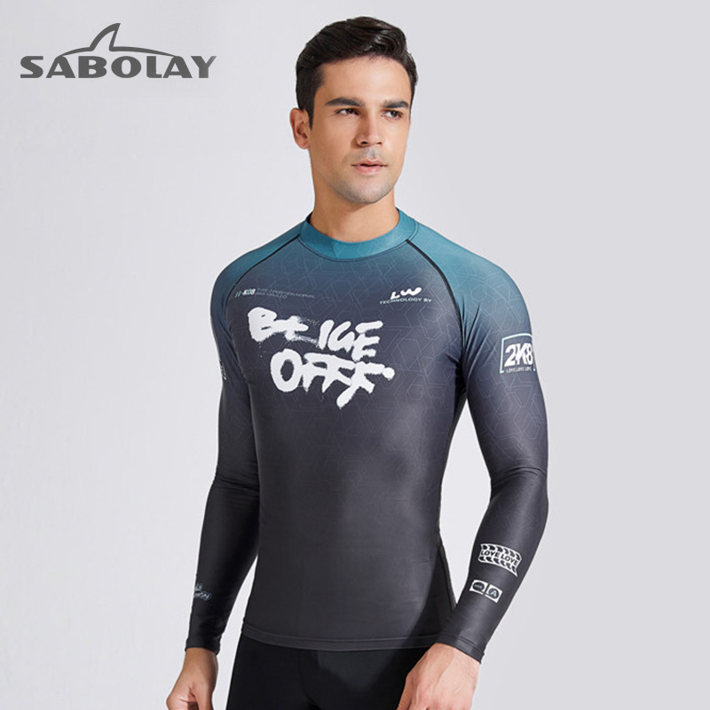 Shabaolai new diving suit thickened mens long sleeved sunscreen outdoor surfing suit swimming waterproof female paddle swimsuit