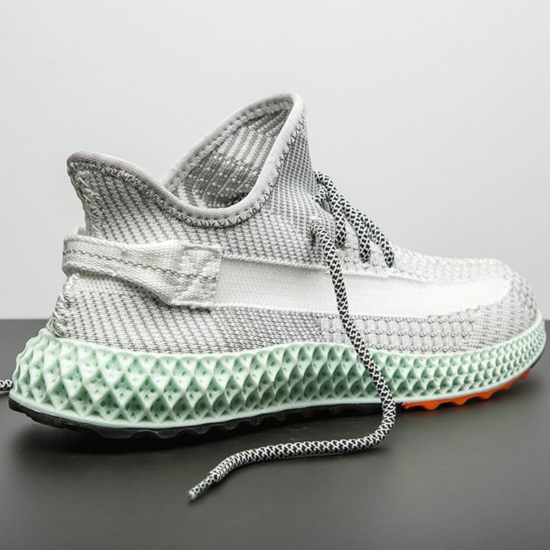 男士运动鞋4D打印椰子男鞋子夏季薄款网面透气飞织网鞋防臭休闲鞋12-03新券