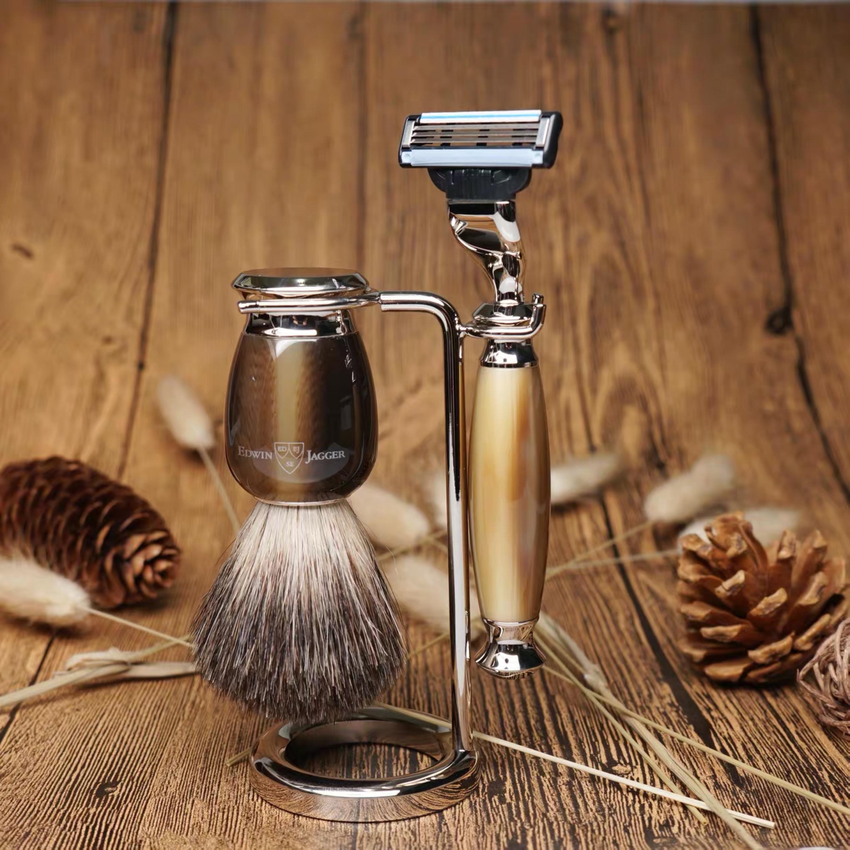 现货英国Edwin Jagger正品五刀片传统手动复古剃须刀刮胡刀套装