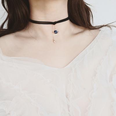 浩瀚星球choker短款锁骨链女颈带项圈少女脖子饰品颈链女2021新款