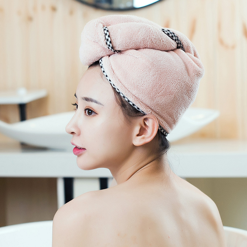 Bath quick drying towel thickening hair towel adult headband home coral hair absorbent dry hair
