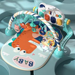 兔小贝健身架器脚踏蹬钢琴音乐早教益智3个月6新生儿宝宝婴儿玩具图片