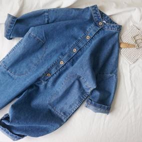 儿童牛仔韩版男童背带连体连体裤