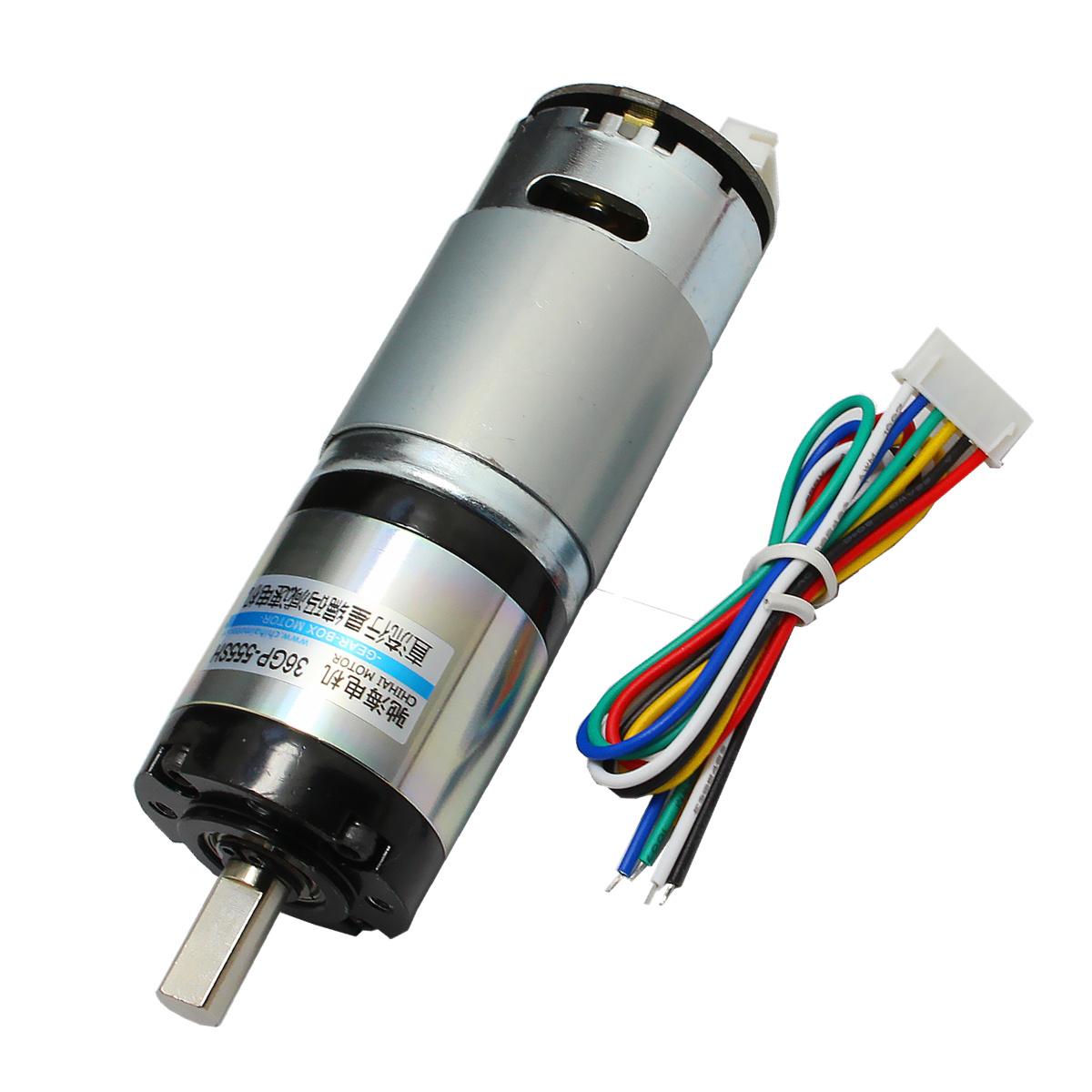 厂家直销直径36mm 36GP-555行星减速电机带霍尔码盘编码12-24V