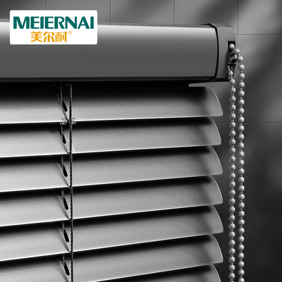 Meier-resistant aluminum alloy blinds lifting shading waterproof non-perforated toilet office bathroom household roller blinds
