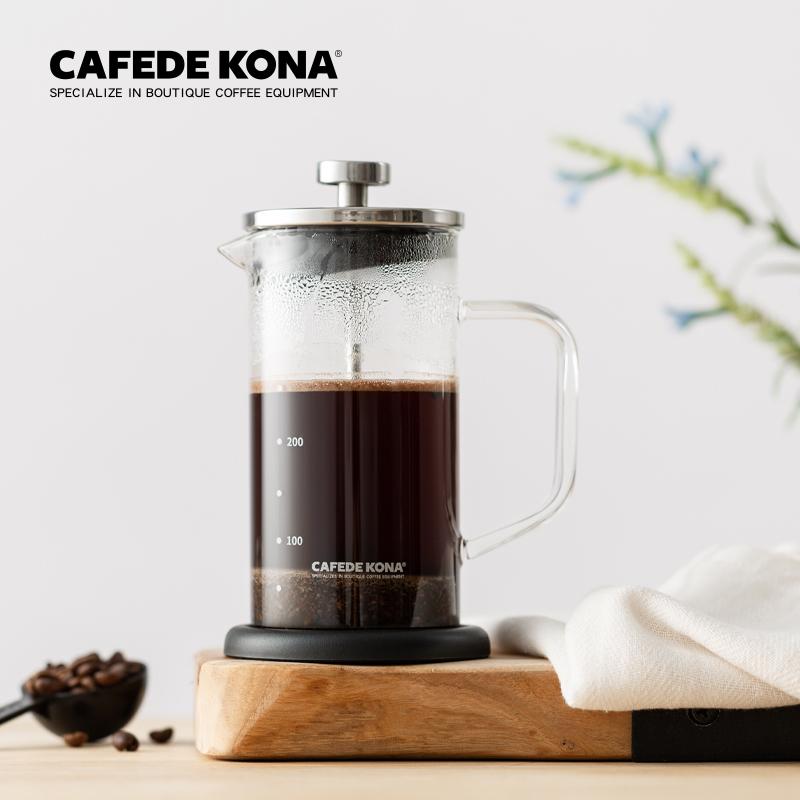 cafede kona法压壶家用玻璃冲茶壶