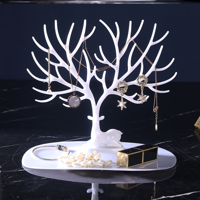 Mini Jewelry Box on the table small tree arrangement hair Ring Earring Display Rack Live Room Bracelet ornament cleaning
