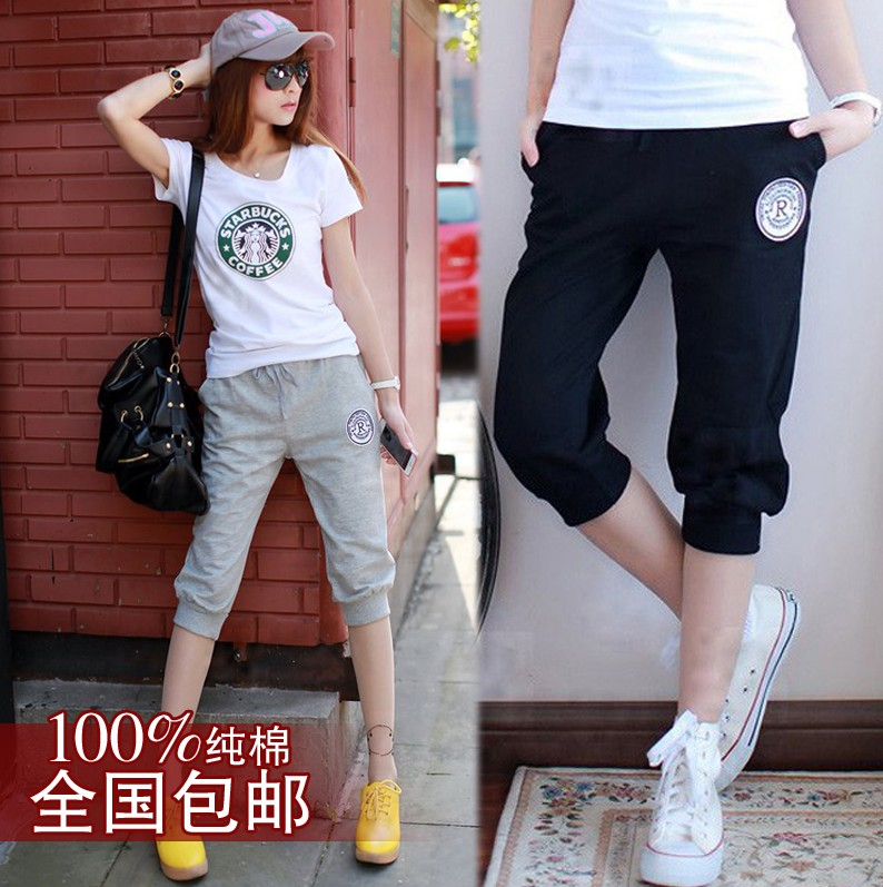 11-12-13-14-15-16-17岁大童女装中学生夏装休闲运动纯棉七分短裤