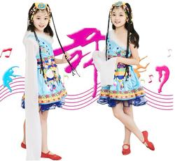 儿童舞台演出服藏族舞蹈服饰小荷风采群舞扎西德勒藏族民族表演服