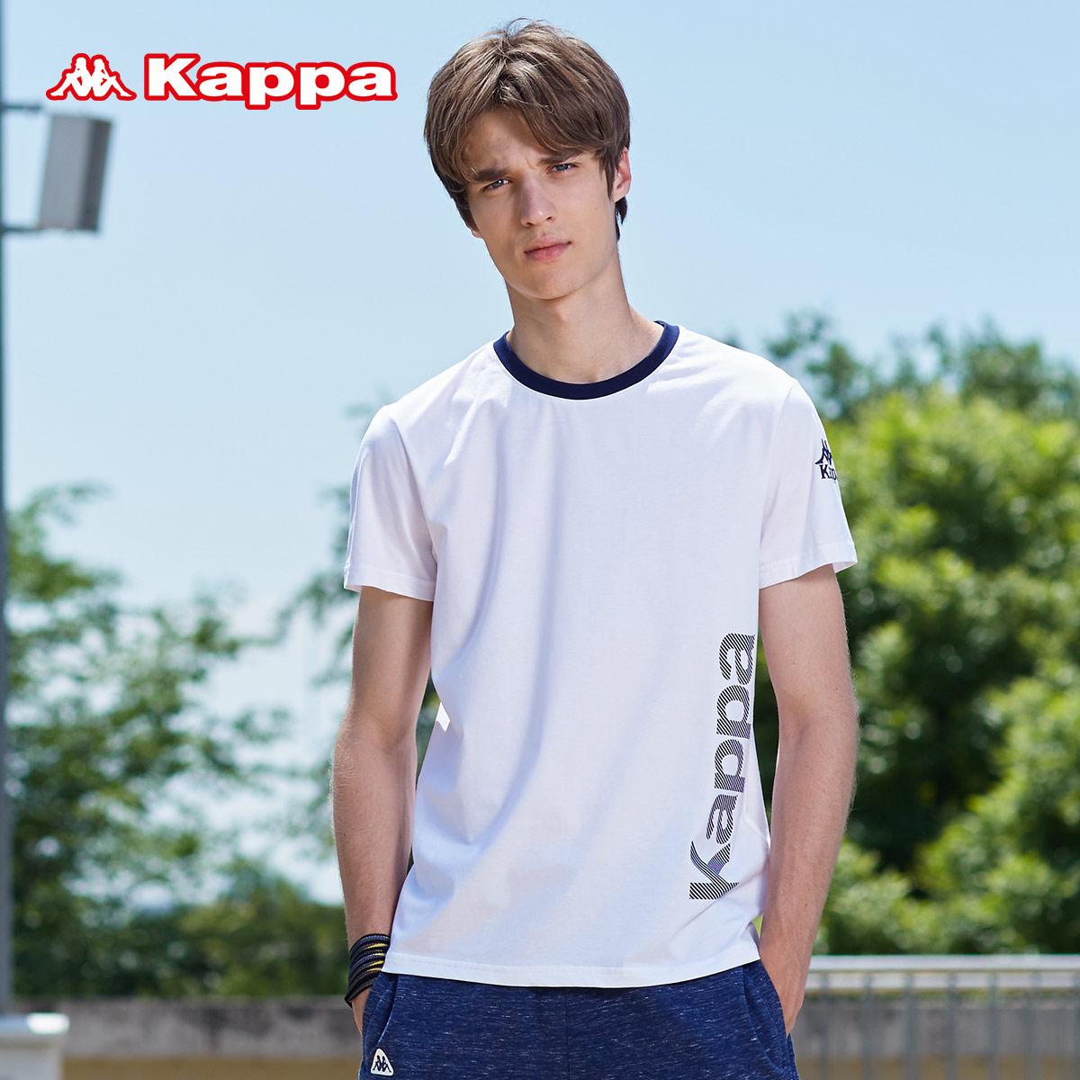 Kappa 男运动短袖印花T恤透气休闲上衣健身衣|K0712TD03D