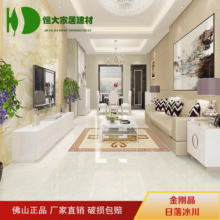 客厅卧室背景墙瓷砖防滑耐磨800x800佛山瓷砖金刚晶全抛釉地砖