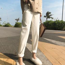 小脚子女加绒加厚韩版修身灯芯绒裤