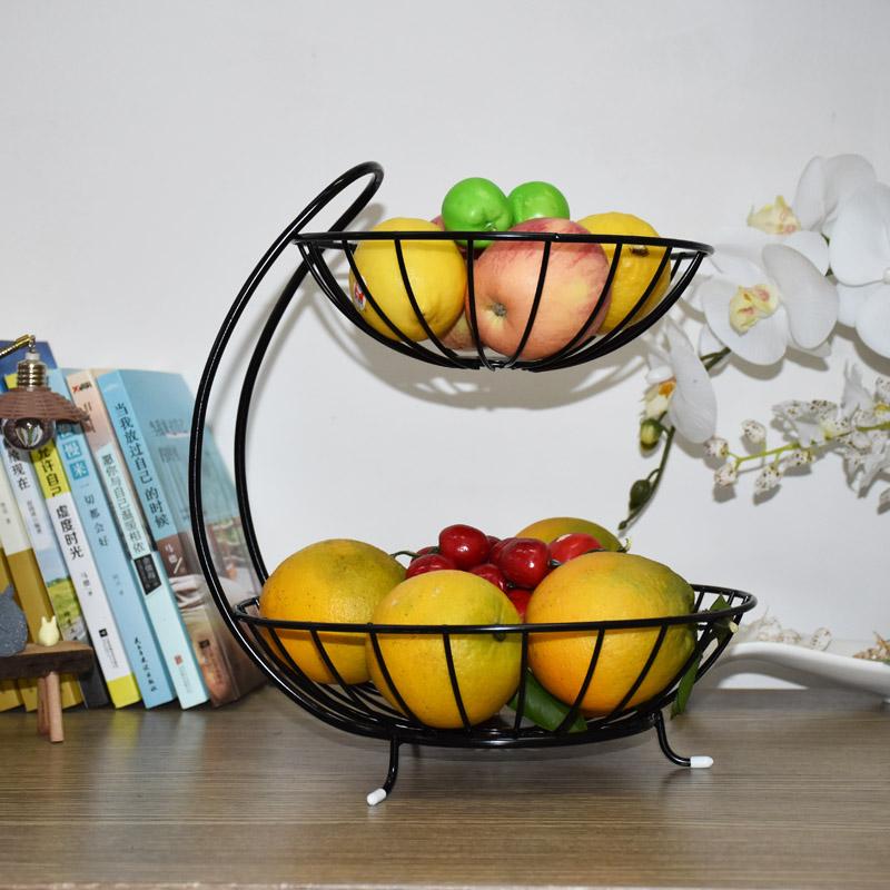 多层水果篮客厅创意时尚果盘简约中式现代奢华收纳架多功能果盆