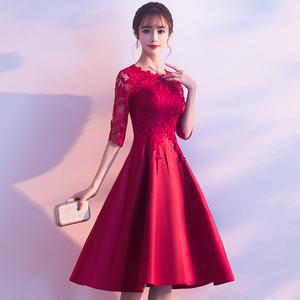 结婚新娘平时可穿2021新款女晚礼服