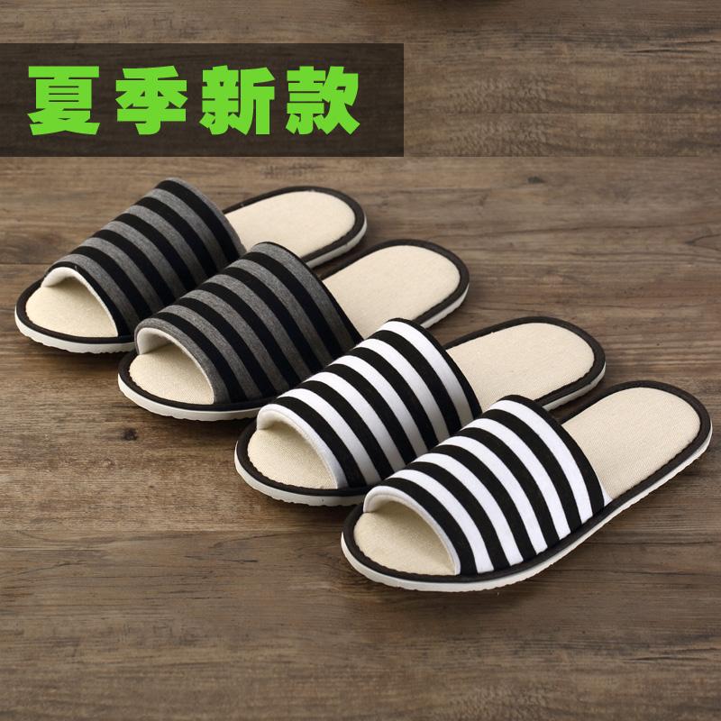 10双装一次性拖鞋待客拖鞋室内家用客人酒店旅行便携男女厚底夏季