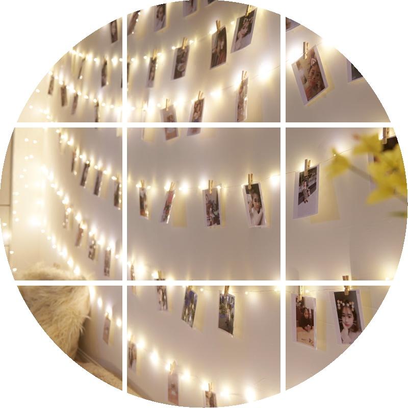 ネットの赤い写真の額縁はins部屋を掛けます。LED照明は写真の壁に刺します。