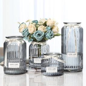 【四只】摆件北欧客厅透明玻璃花瓶