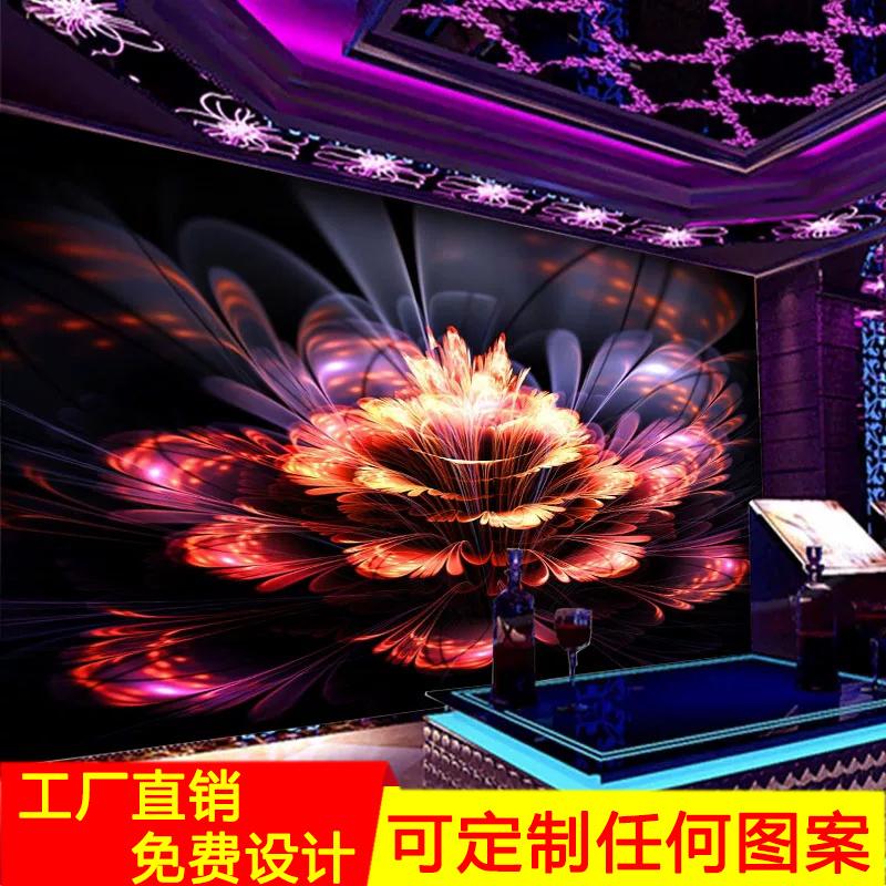 定制ktv闪光壁画3d立体音乐酒吧墙布包厢背景墙壁纸歌厅过道墙画