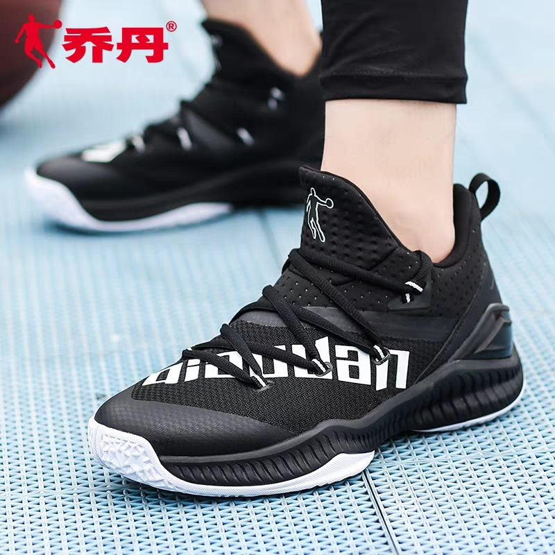 Jordan basketball shoes high top boots student summer sports shoes black and white mesh breathable mens shoes