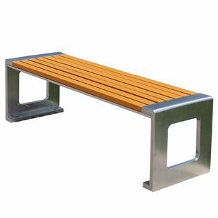 户外園林塑木休閒公園椅廣場露天休息長椅室外凳子定製不鏽鋼長凳