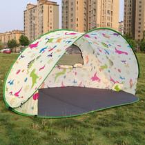 全自动免搭建露营沙滩遮阳帐篷速开户外防紫外线防雨水彩色帐篷