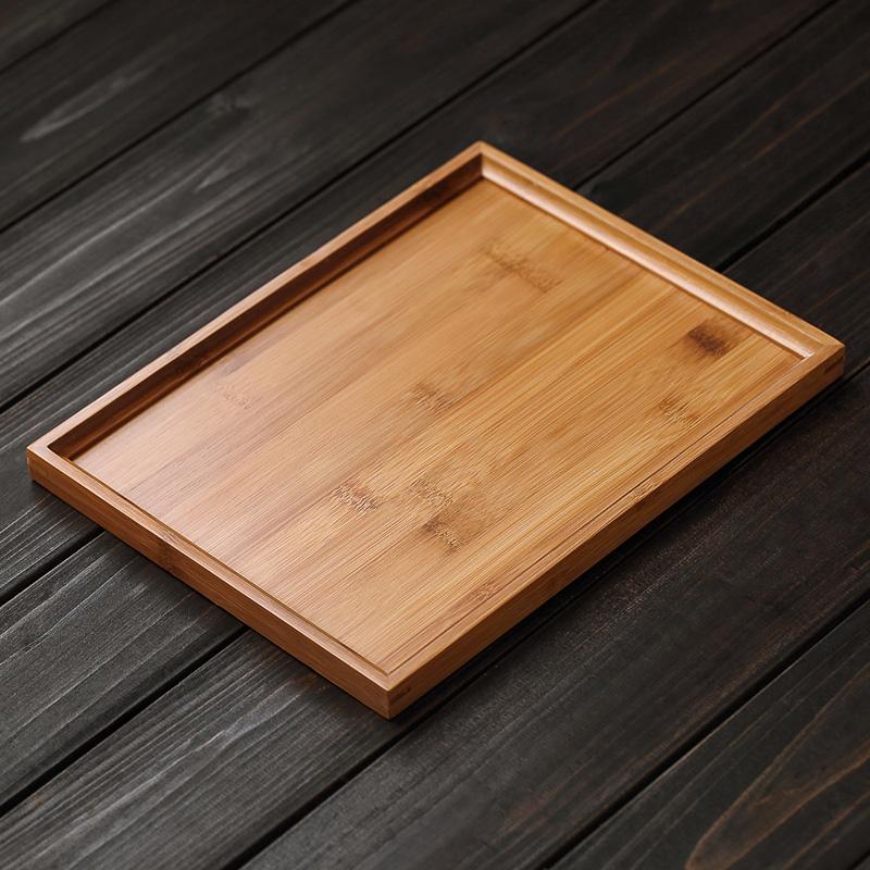 美斯尼竹子茶盘家用竹制长方形简约茶台大号功夫茶具实木茶盘托盘
