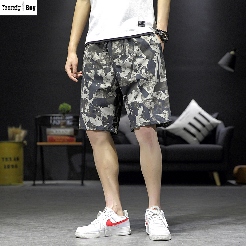 Mens camouflage five point pants summer 2020 new Korean fashion casual sports shorts fashion 5-point pants