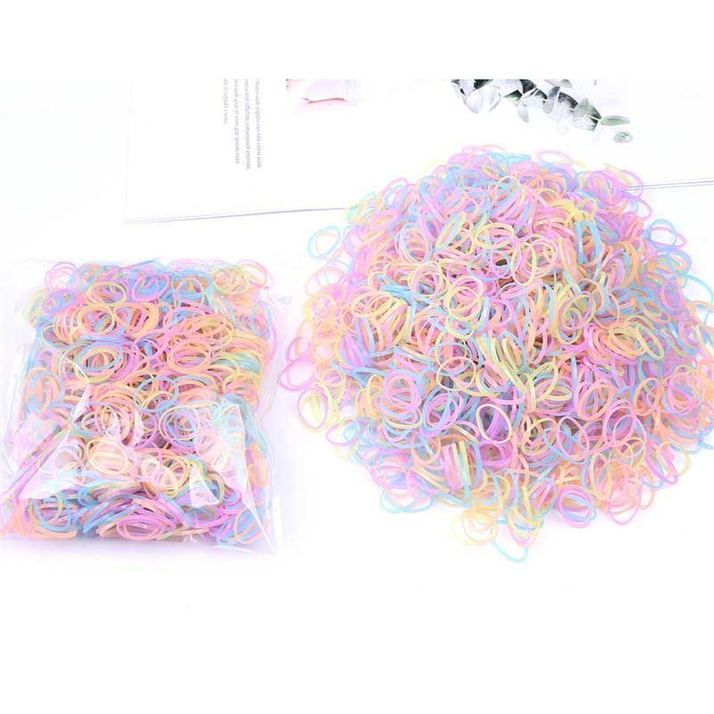 [send hair stretcher as soon as you buy it] 1000 disposable elastic childrens hair ornaments and hair bands