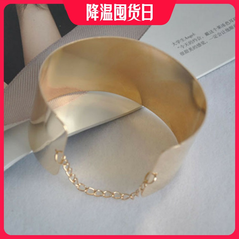 European and American mirror chain bracelet electroplating exquisite smooth Bracelet Fashion Bracelet simple royal style 1041