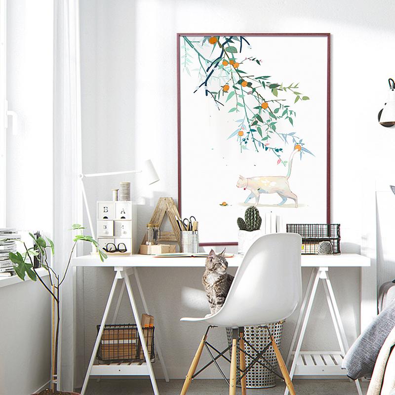 简约铝合金画框4K 8开装饰画像框装裱镜框架相框挂墙海报框定做