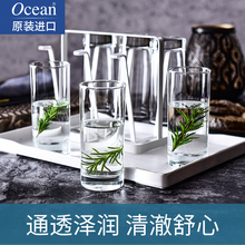 Ocean Imported Glass Cup Set Tea Cup Milk Transparent Juice Heat Resistant Drinking Water Living Room Household 6 Sets