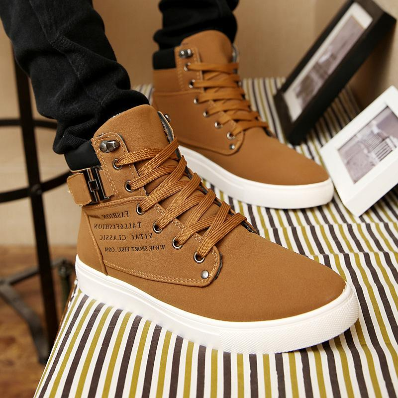 Autumn and winter 2018 new Korean mens shoes high top board shoes retro casual lace up mens fashion Martin boots