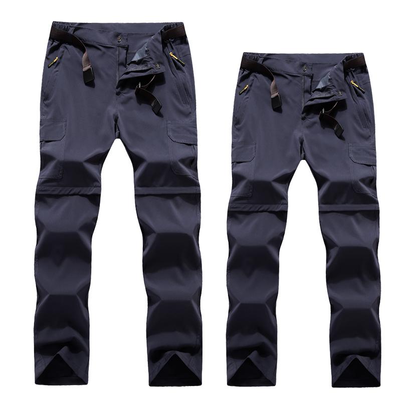 夏のスポーツパンツ男女の弾力性が薄い防水アウトドアカジュアル速乾カップル旅行登山ファッション韓国潮