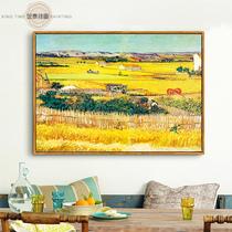 印象派大師莫奈名家油畫日出室內沙發背景墻裝飾客廳書房擺件掛畫