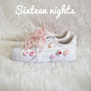 十六夜低幫回力 French甜點系列 夏季可愛甜美日系手繪帆布鞋神仙