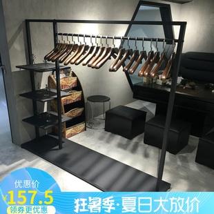 新款衣帽架落地欧式卧室创意客厅简易铁艺挂衣架组装置衣服架包邮
