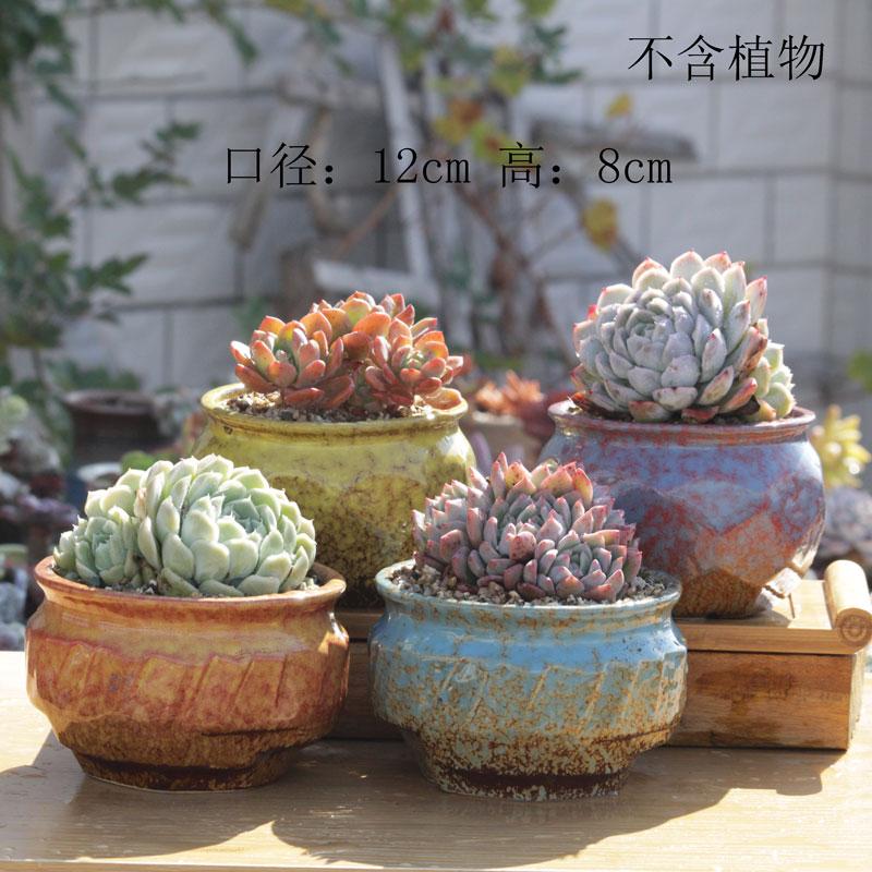 9.90元包邮包邮陶瓷花盆简约大号老桩盆粗陶
