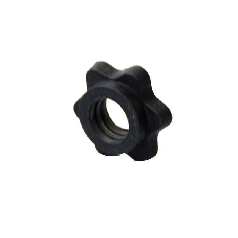 Genuine dumbbell barbell safety nut is not loose, hexagon anti-skid 2.5cm dumbbell bar screw cap fixing accessories
