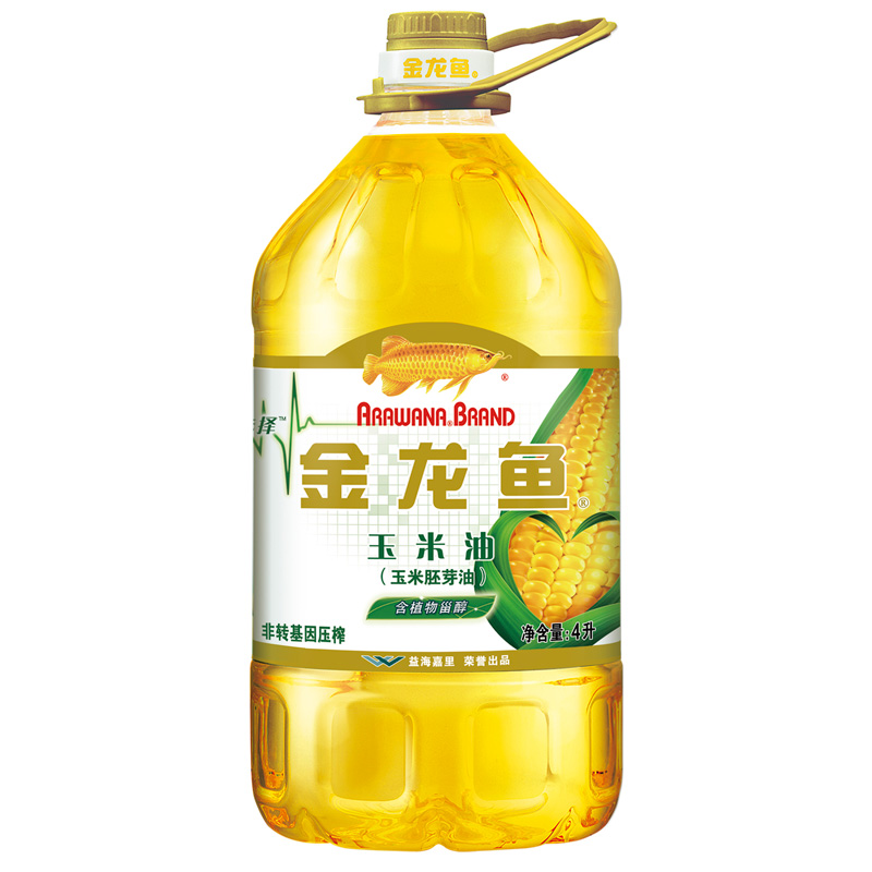 Jinlong fish corn oil 4L barrel non rotary press corn germ vegetable oil cooking taste light