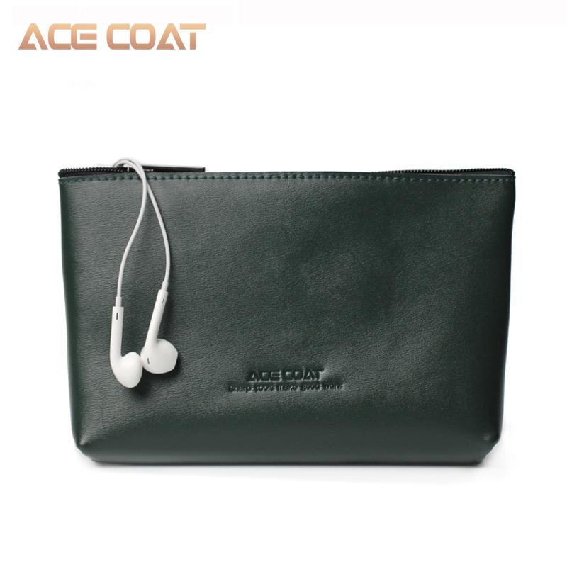 ACECOAT数码配件收纳包 笔记本电源鼠标袋数据耳机收纳整理包真皮