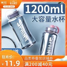 茶花水杯大号大容量塑料茶杯运动杯子水瓶水壶户外便携健身太空杯图片