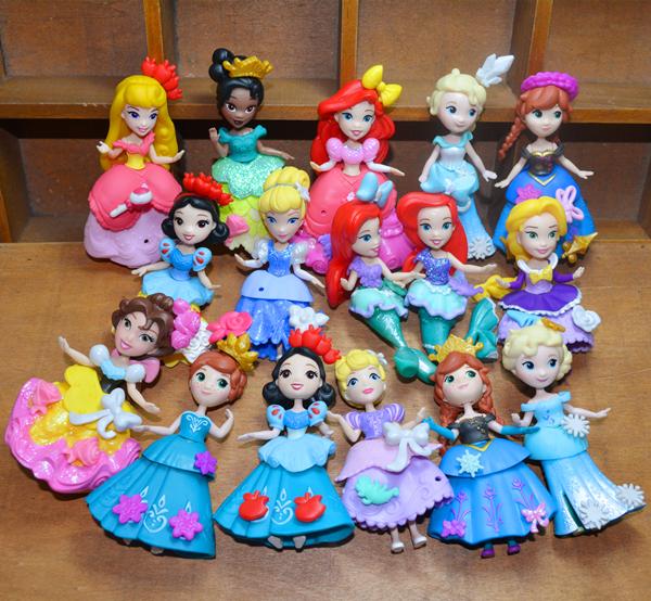 Подлинный насыпной груз ребенок сокровище disney мини кукла переодеться принцесса русалки аиша игрушка кукла