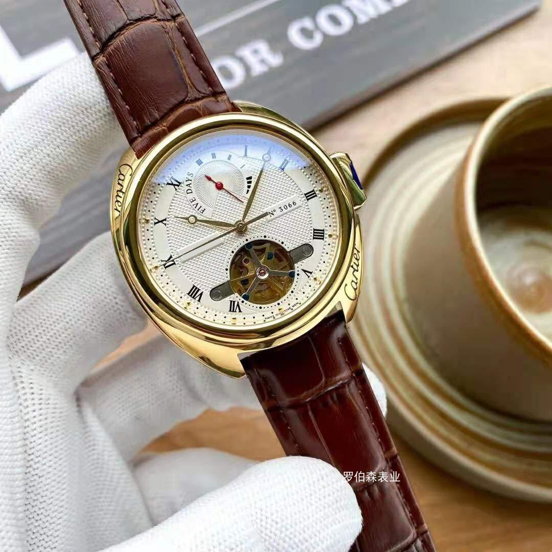 Mens watch boutique mens watch flywheel design automatic movement card watch waterproof trend design