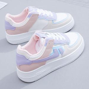 运动休闲小白鞋2021新款春秋女鞋子百搭爆款秋季板鞋春夏季帆布鞋