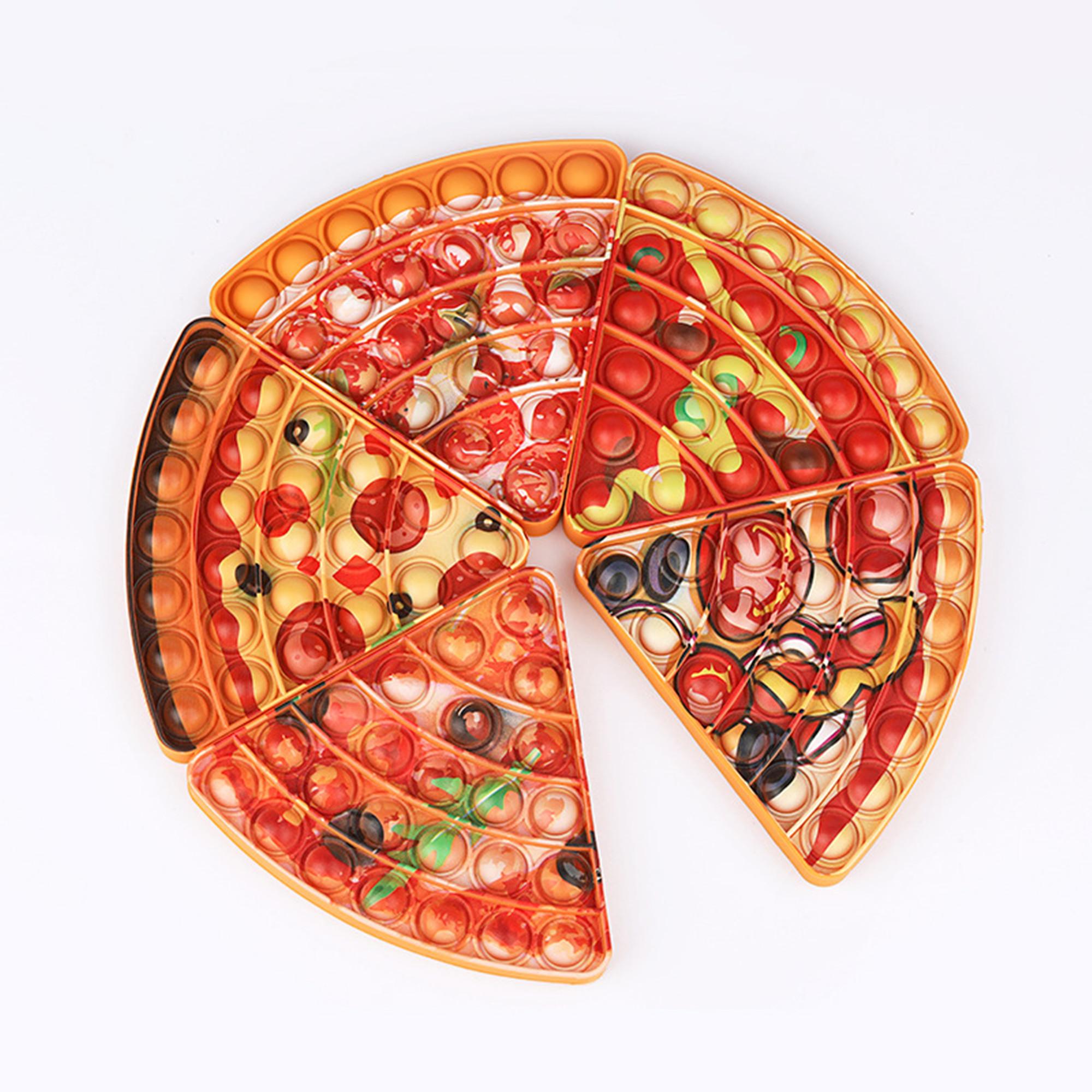 Emulation Food Pizza Pop It Push Bubble Fidget Toys Adult