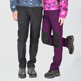 冲锋裤女冬季加绒加厚防水大码登山裤男户外软壳裤抓绒儿童滑雪裤图片