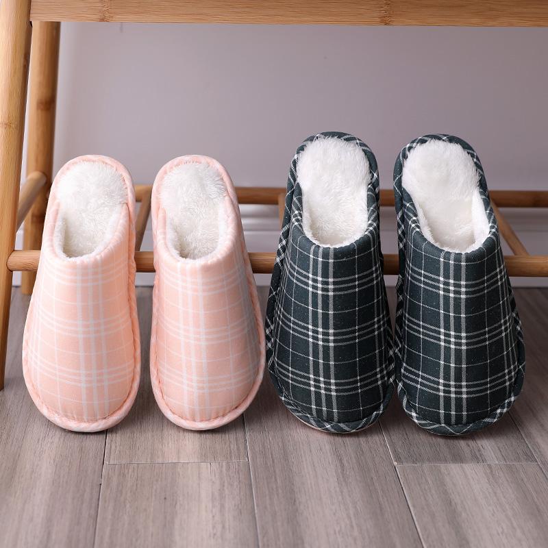 棉拖鞋女家居冬季室内加绒毛毛情侣托鞋女士保暖冬天地板拖鞋新款