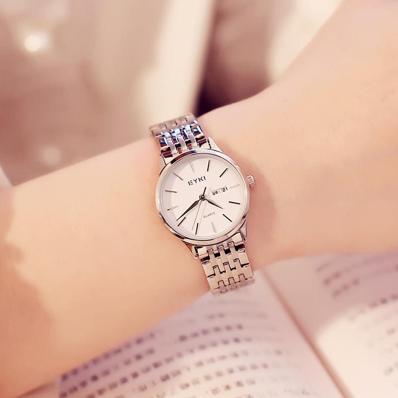 艾奇EYKI手表女学生简约气质时尚情侣一对钢带防水石英女士手表