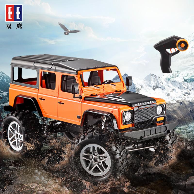 双鹰遥控越野车电动四驱儿童高速攀爬男孩汽车玩具充电超大号模型