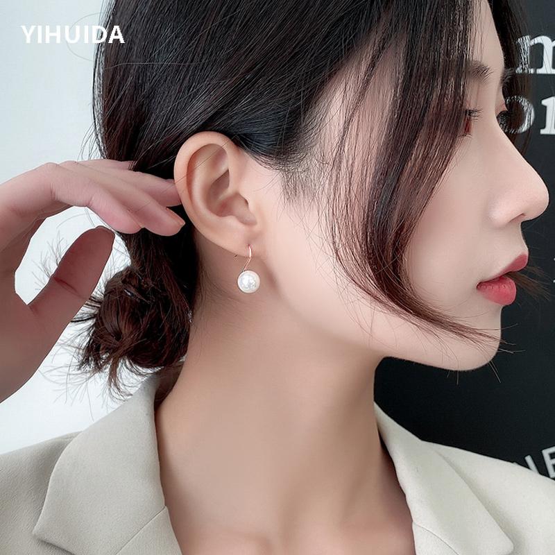 珍珠耳环女2020年新款潮韩国气质网红高级感耳钉简约纯银2019耳饰图片